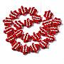 Red Starfish Lampwork Beads(LAMP-Q031-008)