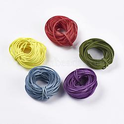 Faux Suede Cord, Random 3 Color, Mixed Color, 3x1mm; about 10m/color(LW-XCP0002-01M)