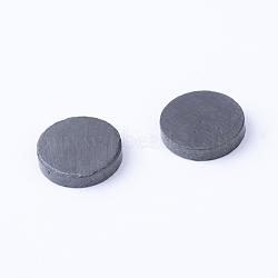 Magnet Beads, No Hole, Flat Round, Black, 14.5x3mm(X-FIND-R035-01)