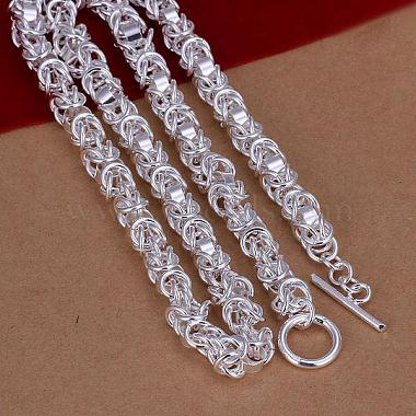 Popular Silver Color Plated Brass Byzantine Chain Necklaces For Men(NJEW-BB12696-18)-3