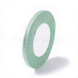 """1/4"""" ruban métallique pailleté vert pâle (6 mm), Ruban scintillant, environ 25yards / rouleau (22.86m / rouleau)(X-RSC6mmY-028)"""