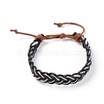 Black Waxed Cord Bracelets