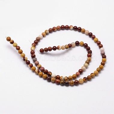 Natural Mookaite Round Bead Strands(G-G735-18-8mm)-2