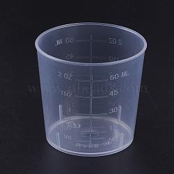 Outils en plastique pour tasse à mesurer de 60 ml, clair, 42~51.5x49mm(TOOL-WH0044-05)