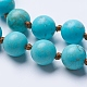 Natural Howlite Beaded Necklaces(NJEW-P202-60-A08)-2
