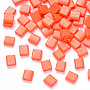 Tomato Rectangle Glass Beads(SEED-S031-L-406)