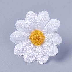 tournesol en tissu de soie, tête de fleur artificielle, pour la décoration de fête de mariage, blanc, 40x16~17 mm; diamètre intérieur: 2 mm(DIY-WH0134-A15)