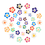 12mm Mixed Color Flower Polymer Clay Beads(CLAY-NB0001-10)