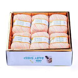 Baby Yarns, with Cotton, Silk and Cashmere, Moccasin, 1mm; about 50g/roll, 6rolls/box(YCOR-R028-YBB24)