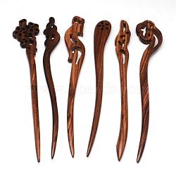 bâtons de cheveux de bois de rose, coconutbrown, 175~185x25~30x9 mm(OHAR-R269-01)