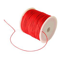 Fil de nylon tressé, rouge, 0.8 mm; environ 100 mètres / rouleau (300 pieds / rouleau)(NWIR-R006-0.8mm-700)