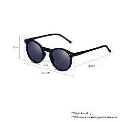 Trendy Sunglasses, Plastic Frames and Resin Lenses, Black, 13.7x5cm(SG-BB22101-6)