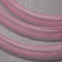 Plastic Net Thread Cord, Pink, 10mm, 30Yards(PNT-Q003-10mm-04)