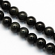 Natural Obsidian Round Beads Strands(X-G-S156-6mm)-1