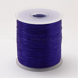 Chaîne de cristal élastique plat, fil de perles élastique, pour la fabrication de bracelets élastiques, mauve, 0.8 mm; 500 m / rouleau(OCOR-P002-06)