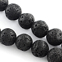 10mm Black Round Lava Beads(X-G-R285-10mm-06)
