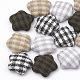 Cloth Fabric Cabochons(WOVE-N006-10)-1