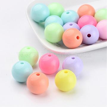 16mm Mixed Color Round Acrylic Beads