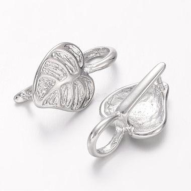 Platinum Plated Brass Ice Pick Pinch Bails(X-KK459-NF)-2
