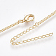 Brass Curb Chain Necklaces Making(X-KK-T038-235G-1)-2