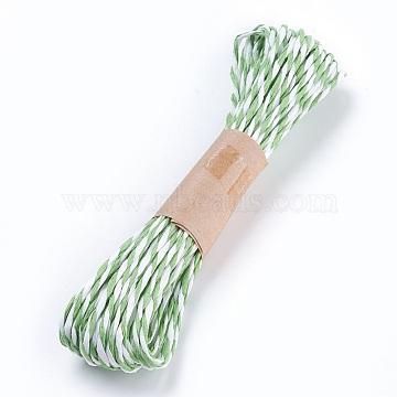 Paper Cords String, for Jewelry Making, 2-Ply, Dark Sea Green, 1.5mm; 10yard/bundle(OCOR-P009-B13)