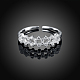Adjustable Trendy Sterling Silver Cubic Zirconia Cuff Finger Rings(RJEW-BB15254)-2