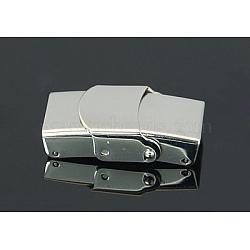 Lisses fermoirs bande wtach 304 en acier inoxydable, couleur inoxydable, 25x13.5x7mm, Trou: 4x10mm(STAS-Q160)