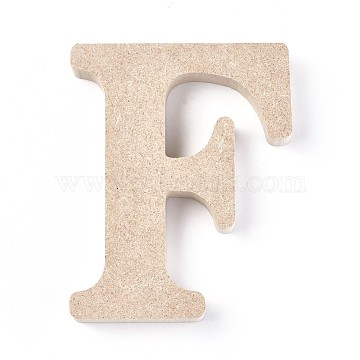 Letter Unfinished Wood Slices, Laser Cut Wood Shapes, for DIY Painting Ornament Christmas Home Decor Pendants, Letter.F, 100.5x80x15mm(DIY-WH0162-62F)