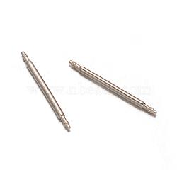 En acier inoxydable double barre ressort à bride montre repères de la sangle, couleur inoxydable, 23x1.3mm(STAS-M231-06)