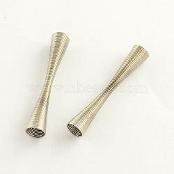 Perles de printemps de fer, Perles de bobine, platine, 41x7mm, trou: 6 mm; environ 595 pcs / 1000 g(IFIN-R195-03P)