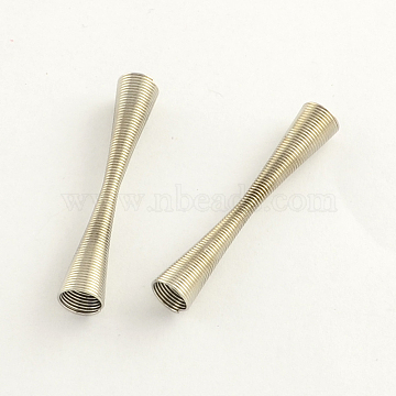 Iron Spring Beads, Coil Beads, Platinum, 41x7mm, Hole: 6mm; about 595pcs/1000g(IFIN-R195-03P)