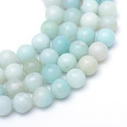 Grade A naturel autour d'un amazonite perles brins, 8~9mm, trou: 1mm; environ 46 pcs/chapelet, 15.3 pouces
