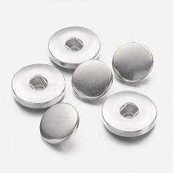 Laiton bouton pression ressort bouton pression, y compris la prise, chapeau, platine, 19x4.5mm, trou: 4~6 mm; 2 pcs / ensemble (X-BUTT-R024-01)