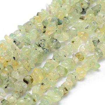 Natural Prehnite Beads Strands, Chip, 5~8mm, Hole: 1mm, about 33 inches(84cm)(X-G-P332-41)