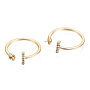 Real 18K Gold Plated Clear Brass For Half-drilled Beads(KK-T056-52G-NF)