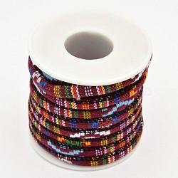 tissu de corde cordes ethniques, firebrick, 6 mm; sur 5 mètres / rouleau(OCOR-F001-03)