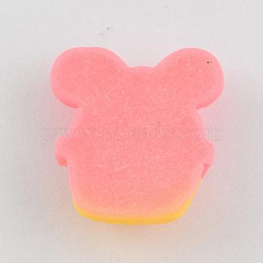 Scrapbook Embellishments Flatback Cute Cupcake with Bows Plastic Resin Cabochons(X-CRES-Q155-M)-3