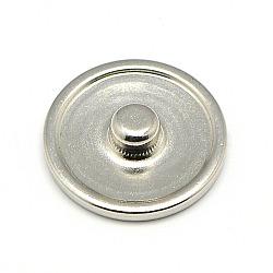 Латунь оснастки сеттинги кнопки кабошон, шпилька фурнитуры, плоско-круглые, без свинца, без никеля и без кадмия, платина, лоток : 18 мм; 20x5 мм, Ручка: 5.5 мм(MAK-A005-13P2-NR)
