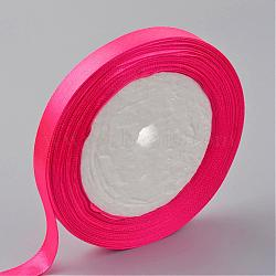 "Ruban de satin à face unique, Ruban de polyester, magenta, 1"" (25 mm) de large, 25yards / roll (22.86m / roll), 5 rouleaux / groupe, 125yards / groupe (114.3m / groupe)(RC25mmY014)"