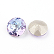 Pointed Back & Back Plated Glass Rhinestone Cabochons(X-RGLA-J012-8mm-001VL)-2