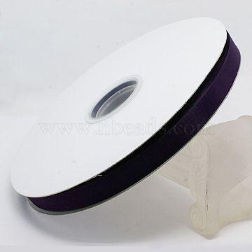 Polyester Organza Ribbon, Purple, 3/8 inch(9mm); 200yards/roll(182.88m/roll)(ORIB-L001-03-473)