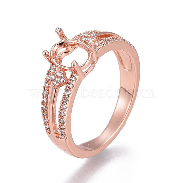 Rose Gold Clear Brass Ring Components