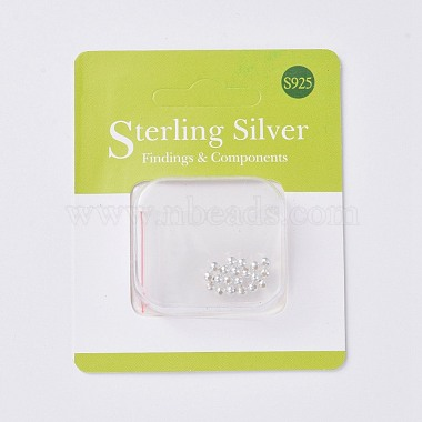 Round 925 Sterling Silver Beads(X-STER-F012-01J)-3