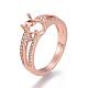 Environmental Brass Finger Ring Components(MAK-F030-10RG-NR)-1