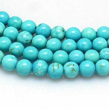 8mm Turquoise Round Howlite Beads