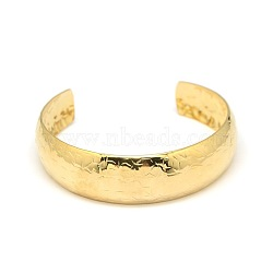 Fashion 304 Stainless Steel Cuff Bangles, Golden, 2-1/4 inches(5.6cm)(X-BJEW-L374-02G)