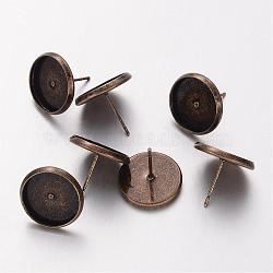 Laiton doré plaqué laiton, sans plomb et sans cadmium et sans nickel, longueur d'environ 12 mm ,  largeur de 14 mm, Plateau: 12 mm(X-KK-H720-AB-NR)