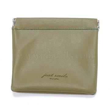 PU Imitation Leather Women's Bags, Square, Dark Khaki, 12x11.5cm(ABAG-P005-B08)