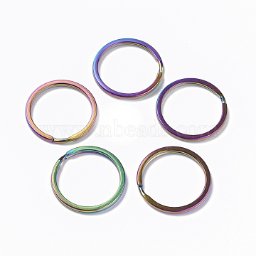 Multi-color Ring Stainless Steel Split Key Rings