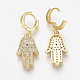 Brass Micro Pave Cubic Zirconia Dangle Earrings(EJEW-S201-18G)-2